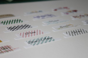 Tabs printed, stamped and cut. Waiting to be attached to divider cards.